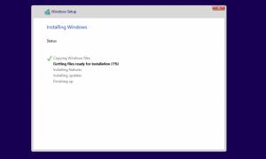 Започва инсталирането на Windows 10
